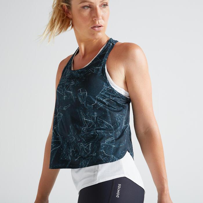 Top 3-in-1 FTA 520 Fitness Cardio Damen weiβ mit Print