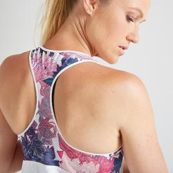 3-in-1 top fitness cardiotraining dames 520 wit/roze