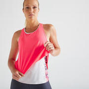 Muscle Back Fitness Tank Top - White/Pink