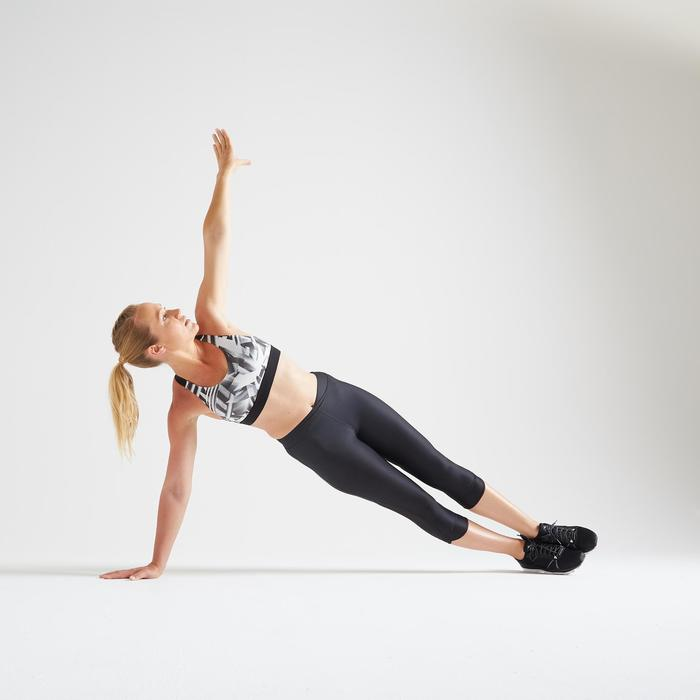 500 Women's Fitness Cardio Training Sport Bra - Print