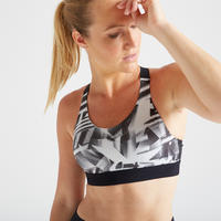 500 Women's Fitness Cardio Training Sport Bra - Print