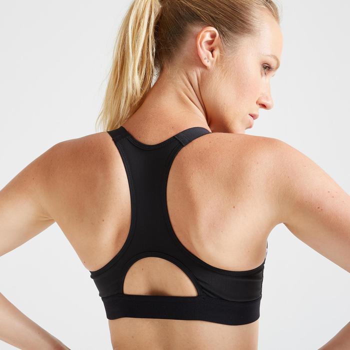 Brassière cardio fitness cardio training femme imprimée graphique 500
