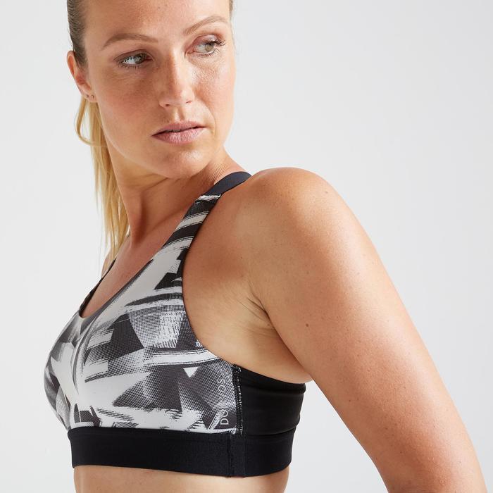 女款有氧健身訓練運動內衣500-印花款