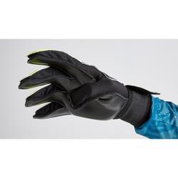 Keepershandschoenen voor voetbal volwassenen F100 Resist zwart/geel