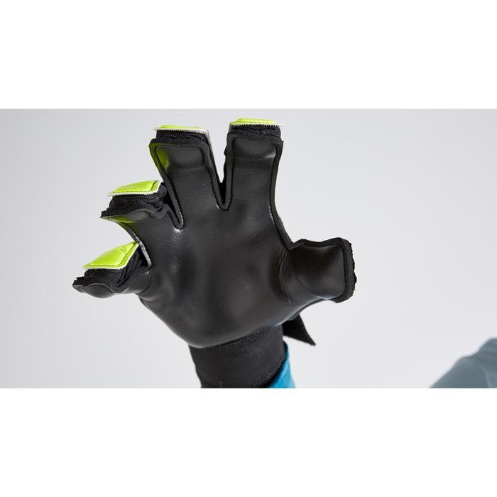 成人款足球守門員手套F100 Resist-黃黑配色