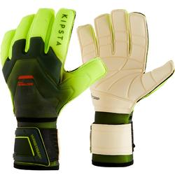 F900 Shielder Flat Seam Adult Football Goalkeeper Gloves - Black/Yellow