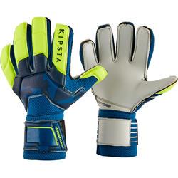 Keeperhandschoenen kind F500 blauw/geel