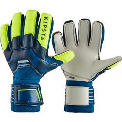 Keeperhandschoenen voor voetbal kinderen F500 Shielder blauw/geel