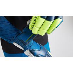 Keepershandschoenen voor volwassenen voetbal F500 blauw geel