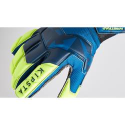 Gant de gardien de football adulte F500 RESIST bleu jaune