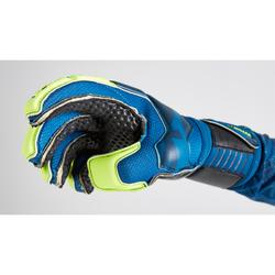 Gant de gardien de football adulte F500 RESIST SHIELDER bleu jaune