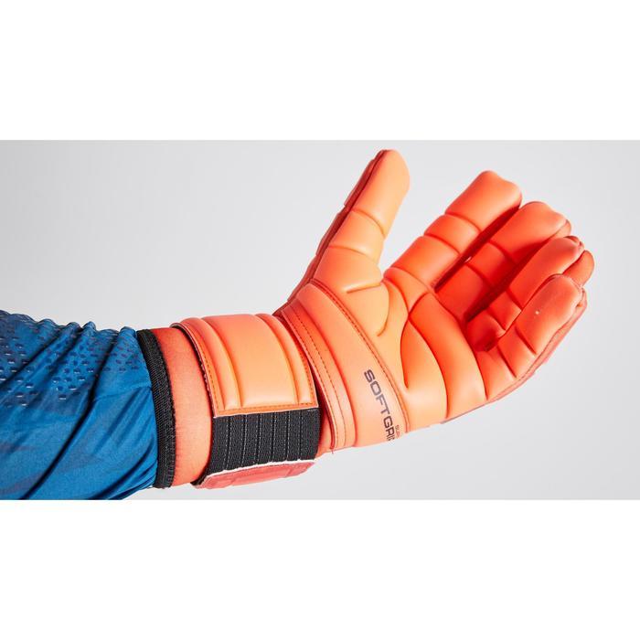 Gant de gardien de football F900 cold couture négative adulte rouge