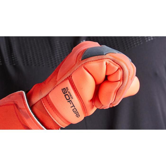 Keepershandschoenen voetbal volwassenen F900 cold negatieve naad rood
