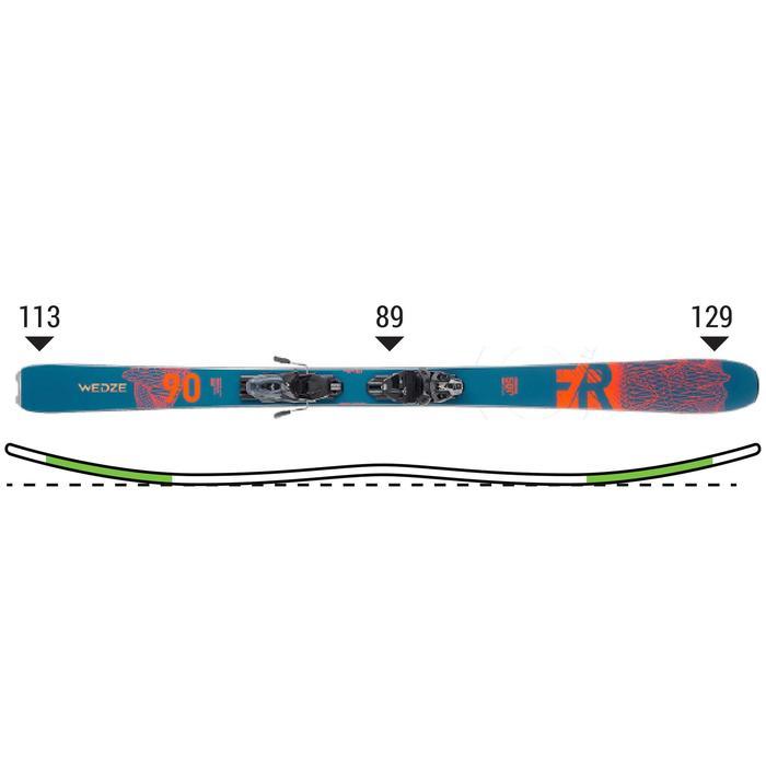 自由式雙板滑雪組FR 500 - 深藍綠色橘色