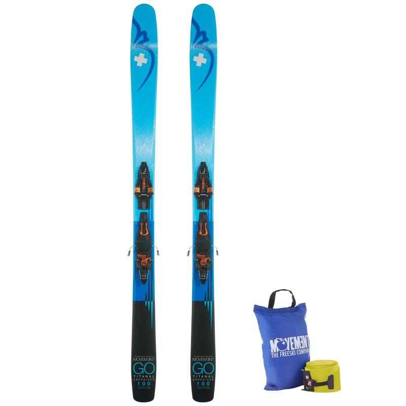 Pack Ski Freeride-randonnée expert Movement GO 100 TI + KING PIN DEMO 13 + Peaux