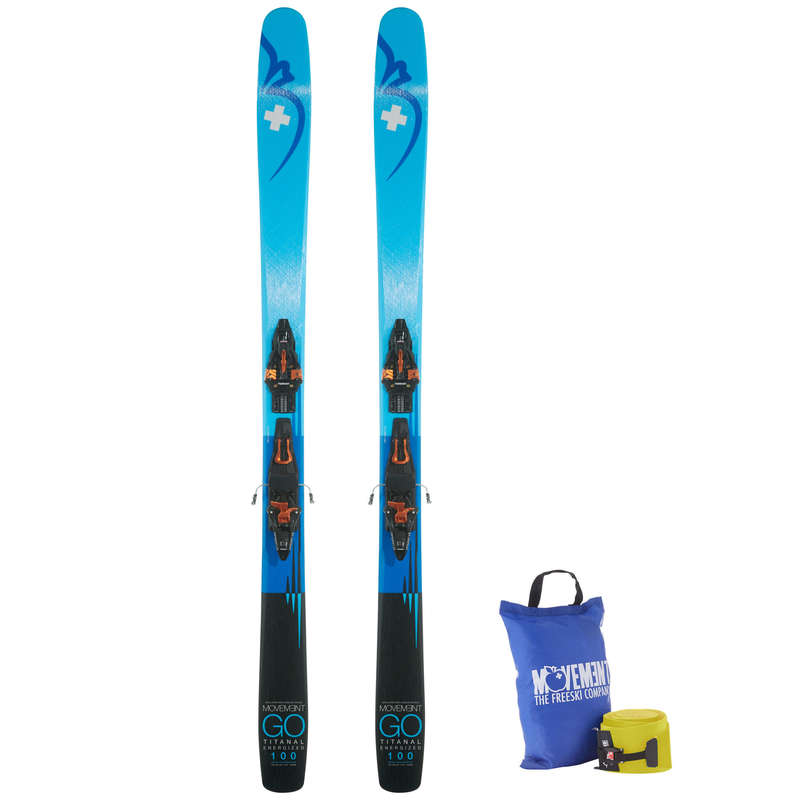 MAN'S FREERIDE SKIS Skiing - Ski Go 100 Ti Kingpin Skins MOVEMENT - Ski Equipment