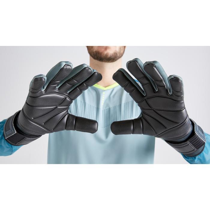 Keepershandschoenen voetbal volwassenen F900 cold negatieve naad zwart