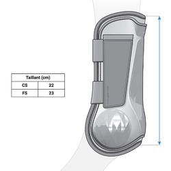 500 Jump Horse Riding Tendon Boots for Horse - Navy