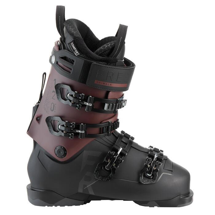 Chaussures de ski Freeride Adultes Wedze FR 900 flex 120 noir/bordeaux