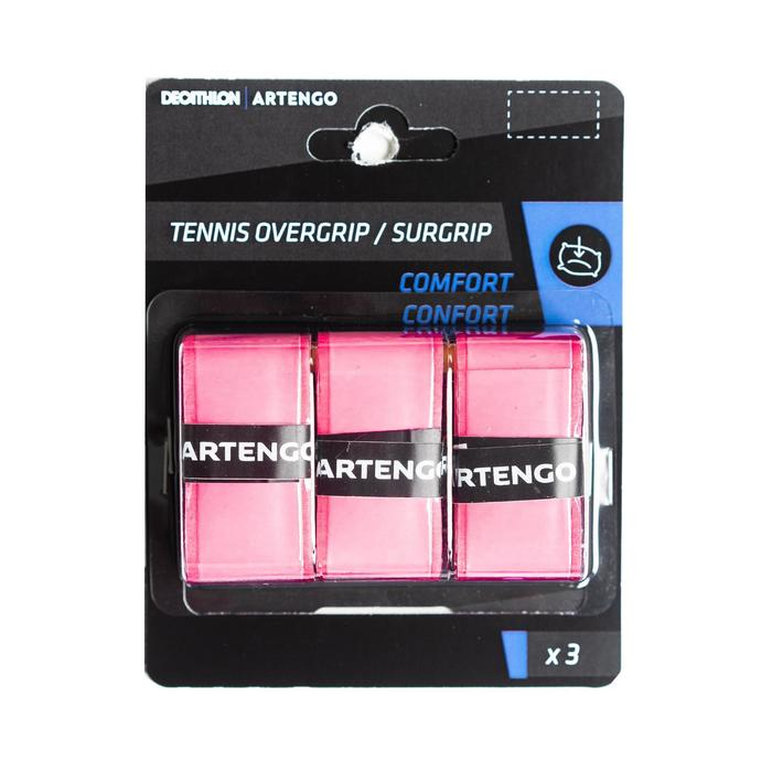 Comfort Tennis Overgrip Tri-Pack - Soft Pink