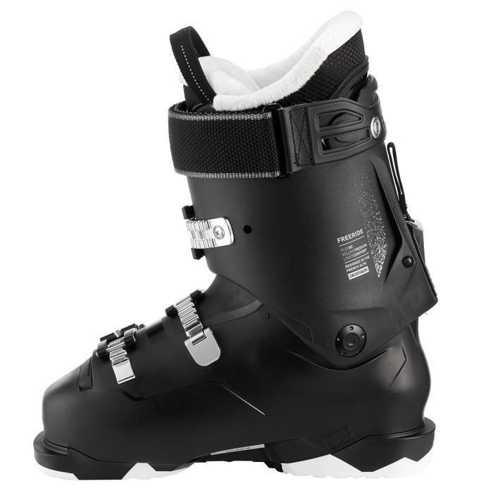 Skischoenen voor freeride/free touring dames Wed'ze FR 100 flex 80 zwart
