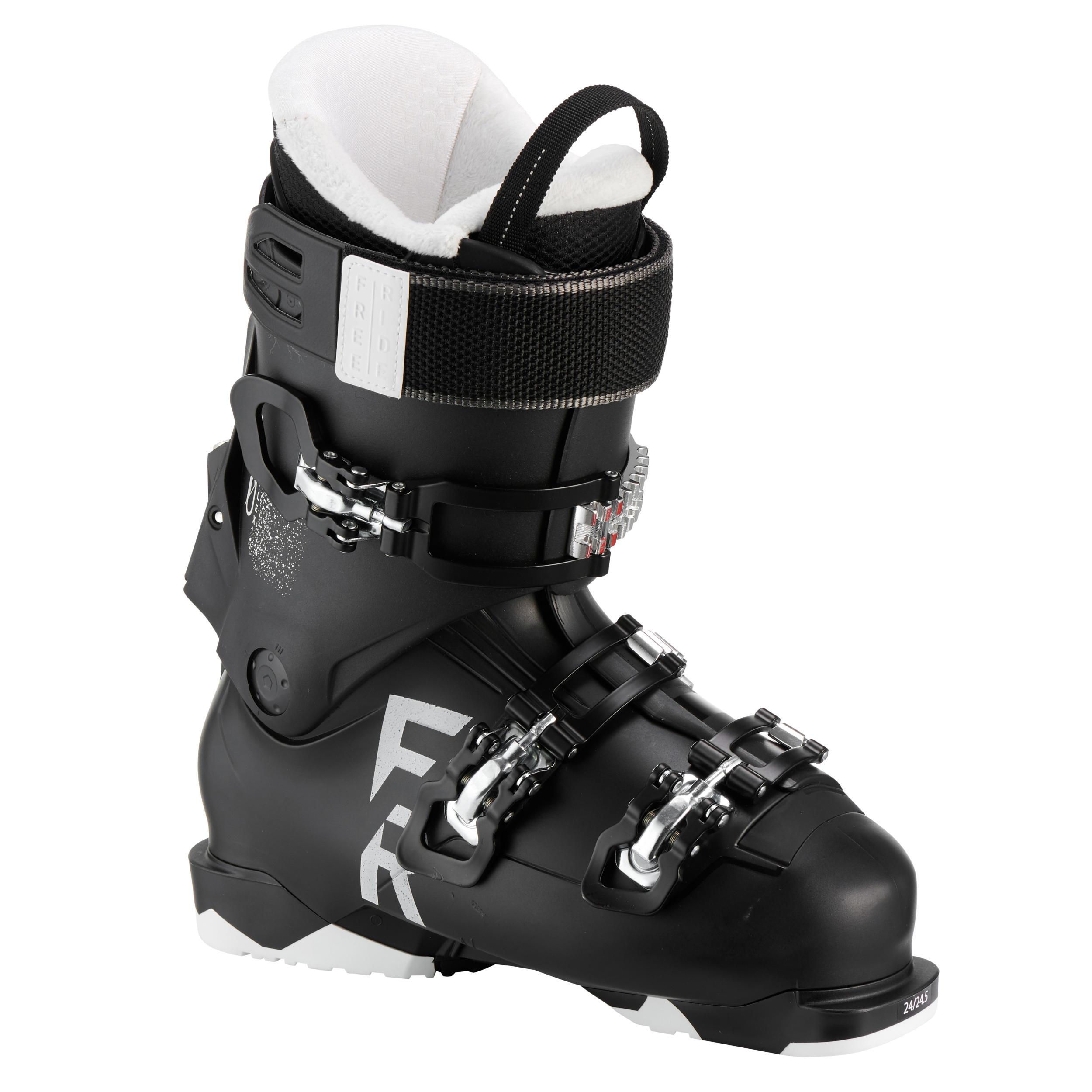 Chaussures de ski Freeride Femmes Wedze FR 100 flex 80 noir - Wedze