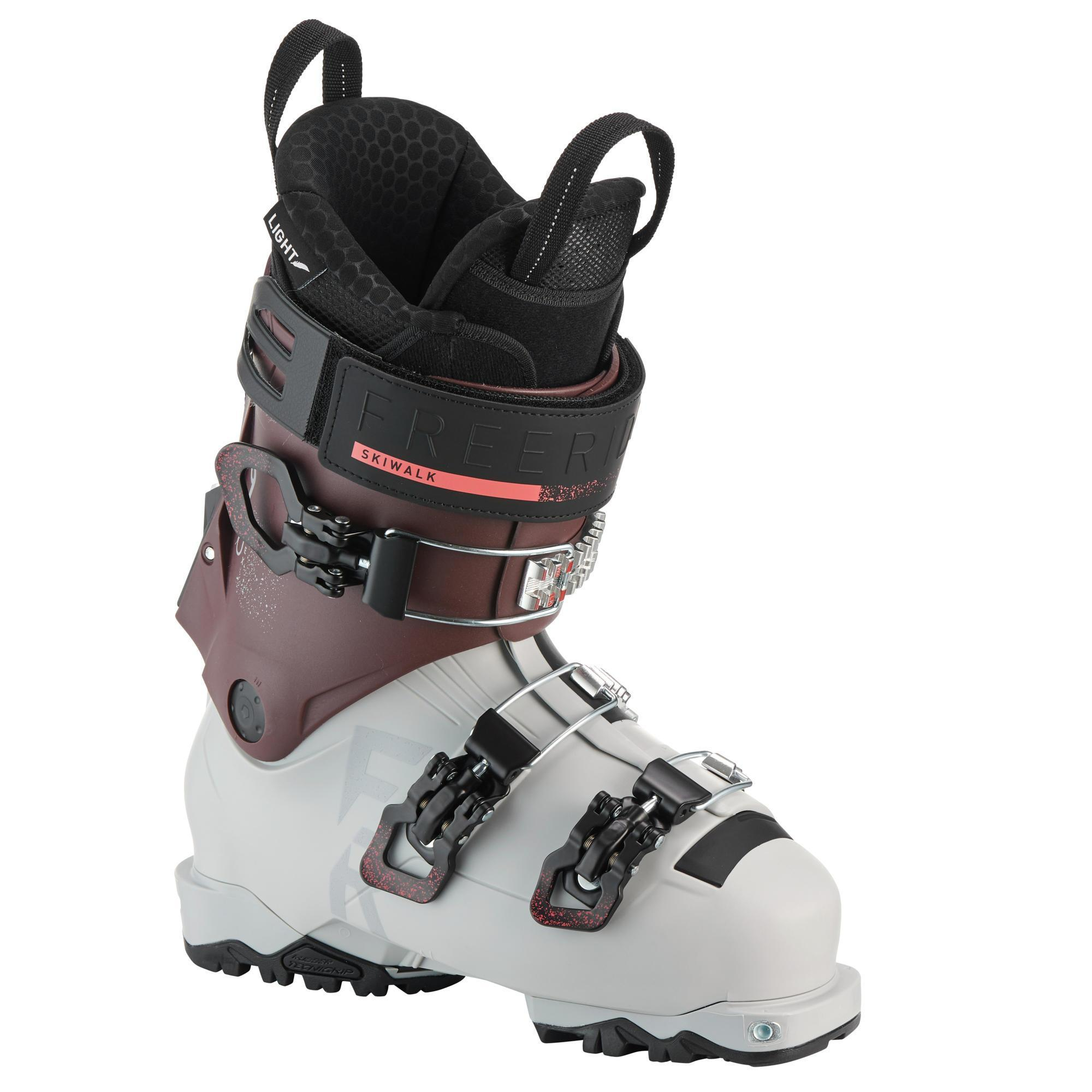Chaussures de ski Freeride randonnée femme SKB SKI FR900 LT F flex 90 - Wedze