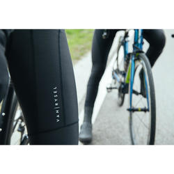Culotte largo ciclismo con tirantes hombre VAN RYSEL road 500 negro