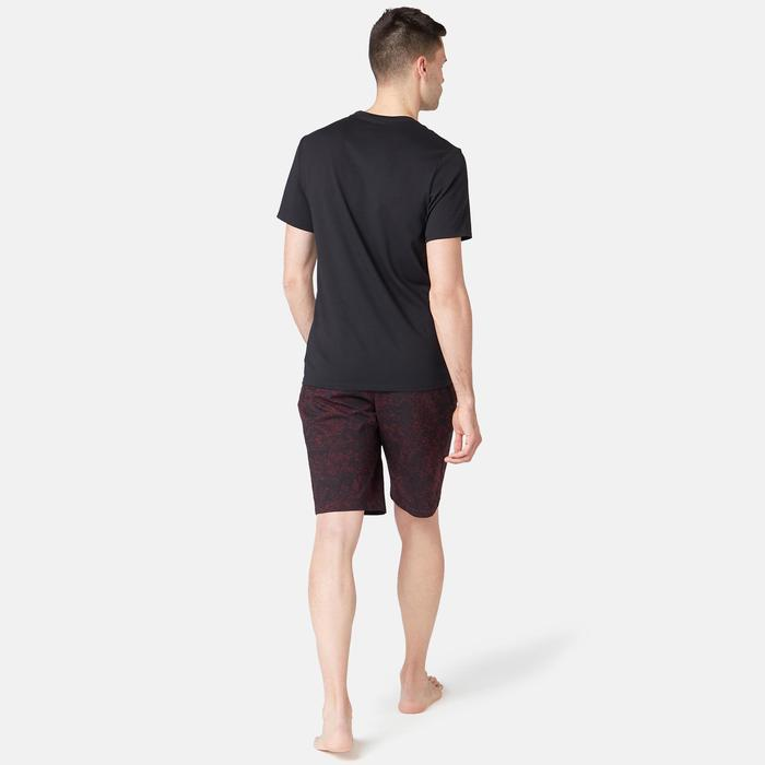 T-shirt voor pilates/lichte gym heren 500 slim fit zwart