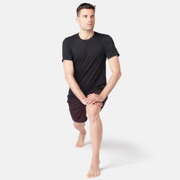 500 Slim-Fit Gym & Pilates T-Shirt - Black
