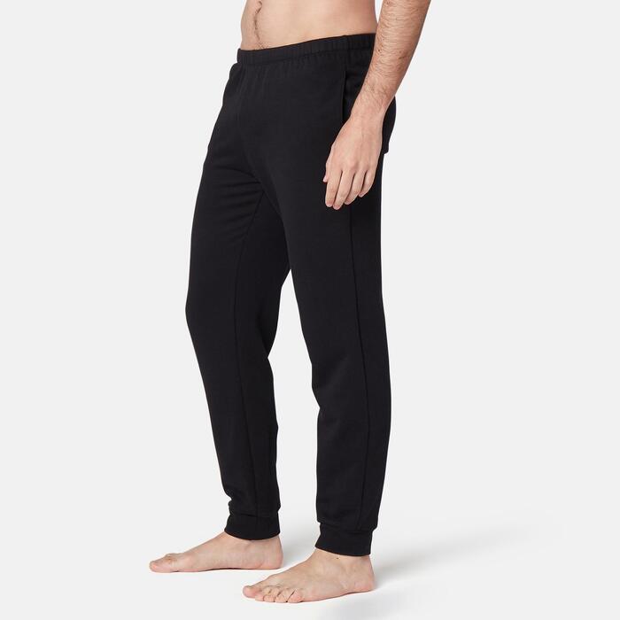 Broek voor work-out heren 100 regular fit zwart