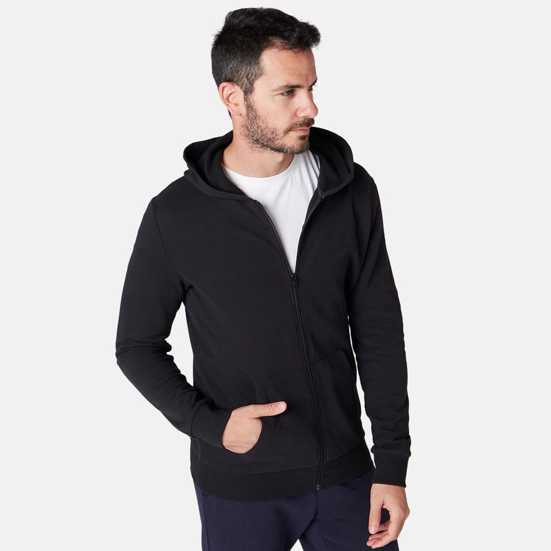 Hooded Zip Jacket - Black