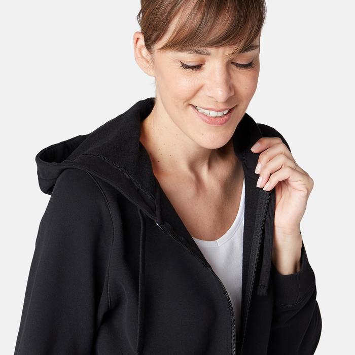 520 Women's Pilates & Gentle Gym Hooded Jacket - Black