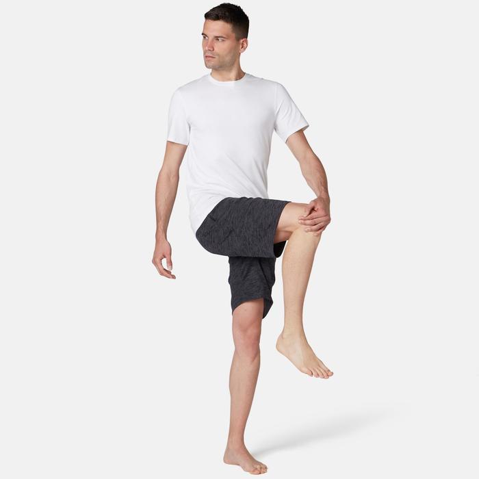 T-Shirt 500 Slim Pilates sanfte Gymnastik Herren weiß