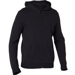 Hooded Zip Jacket - Black