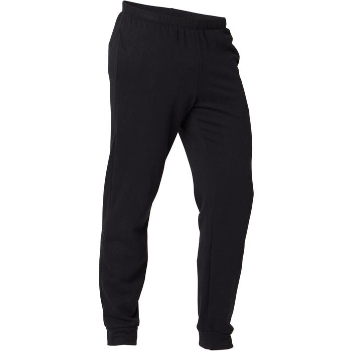 Trainingsbroek heren 100 regular fit zwart