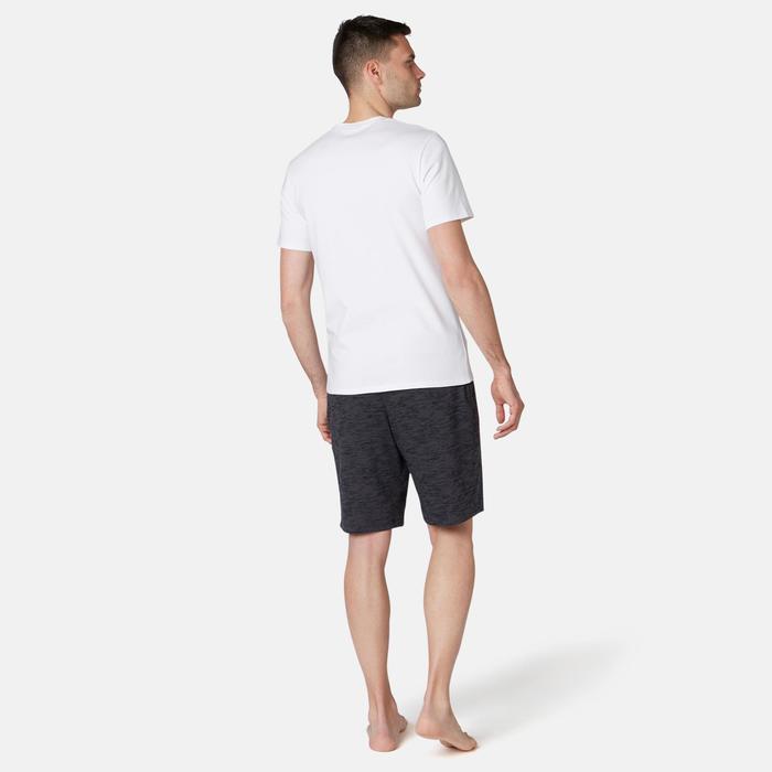 修身剪裁皮拉提斯與溫和健身T恤500 - 白色