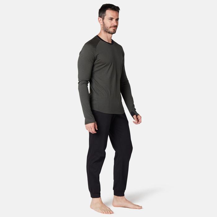 Broek voor work-out heren 120 regular fit zwart