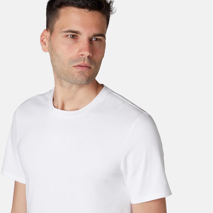 500 Slim-Fit Pilates & Gentle Gym T-Shirt - White