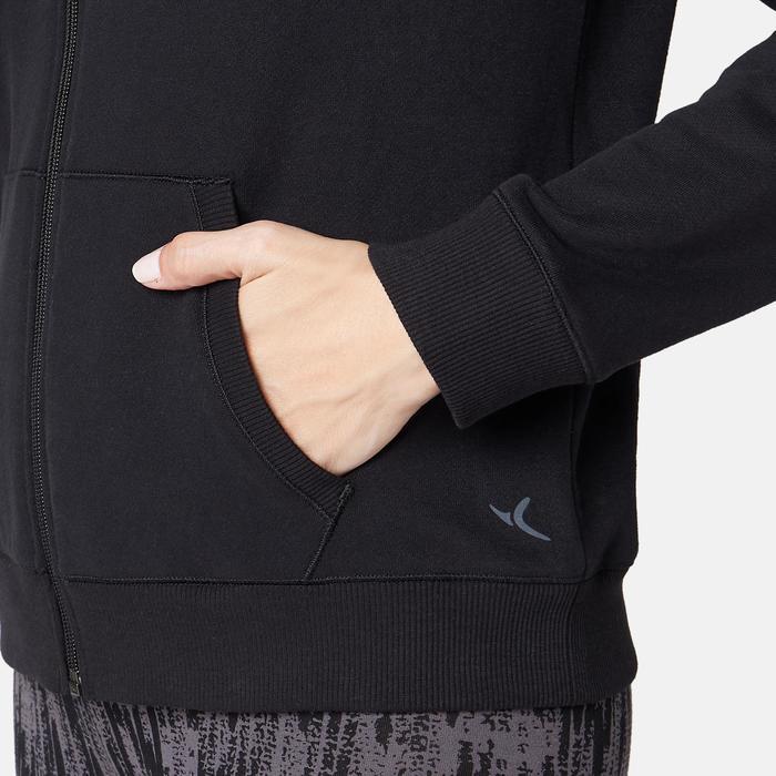 女款連帽衫500 - 黑色