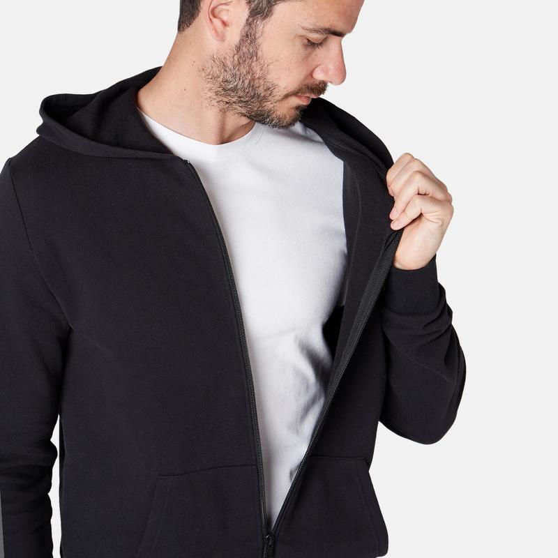 Gym & Pilates Hooded Jacket - Black