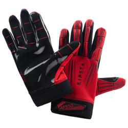 American Football handschoenen voor volwassenen AF550GR rood