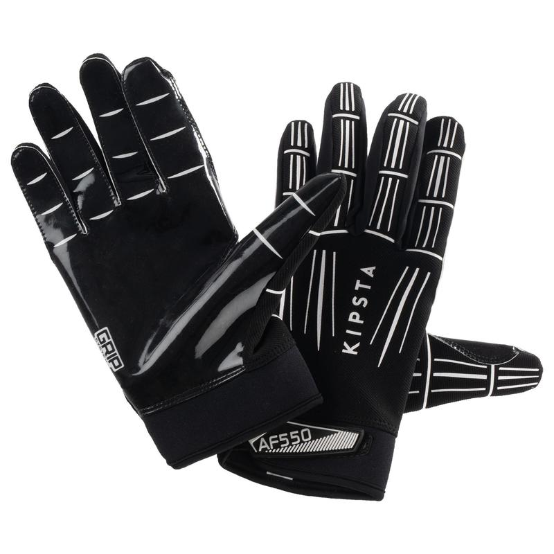 AF550GR Adult American Football Gloves - Black