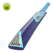 T100 JUNIORS BEGINNER CRICKET BAT, BLUE