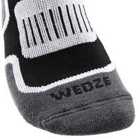 Adult Ski Socks 300 - Black White