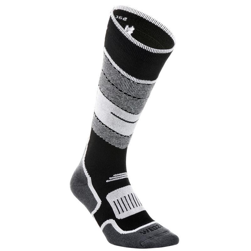 Adult Ski Socks 300 - Black White