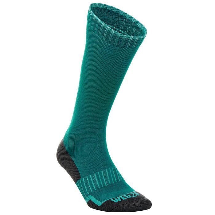 Calcetines Térmicos Esquí y Nieve 100 Adulto Verde