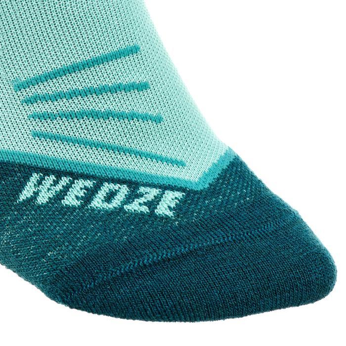 ADULT 500 SKIING SOCKS - BLUE GREEN