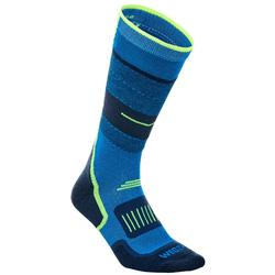 ADULT SKI SOCKS 300 BLUE YELLOW