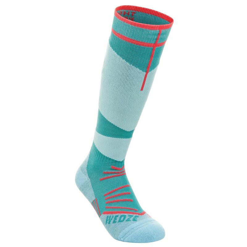 Children's Ski Socks 500 - Sea Green